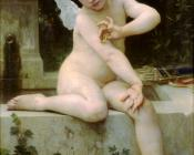 William-Adolphe Bouguereau : Cupid with a Butterfly