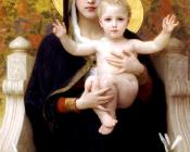 William-Adolphe Bouguereau : The Virgin of the Lilies